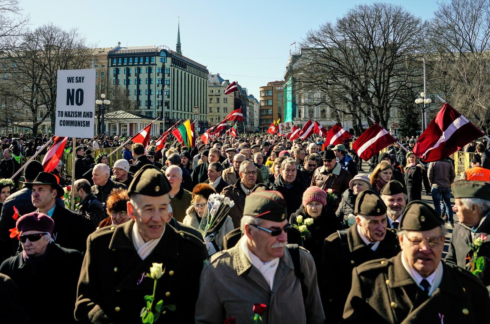 Gedenkmarsch in Riga am 16. März 2017.