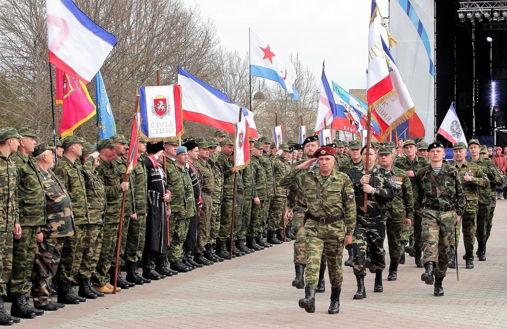 Volkswehr in Simferopol