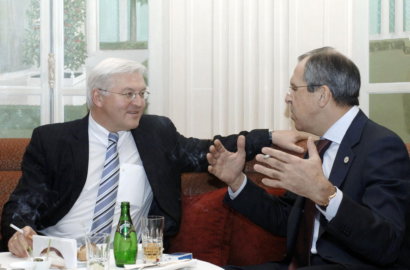 Steinmeier und Lawrow.