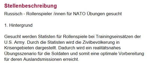 NATO spielt Proben für Besetzung russischsprachiger Gebiete - Berlin sucht Statisten für Kriegsübung