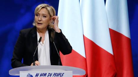 Die Umfragen sehen sie trotz Skandalen im ersten Wahlgang noch vorn: Marine Le Pen.