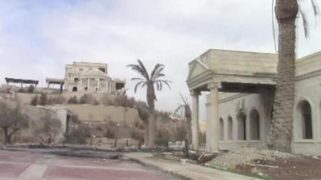 Luxeriöses Anwesen der katarischen Königsfamilie in Palmyra.
