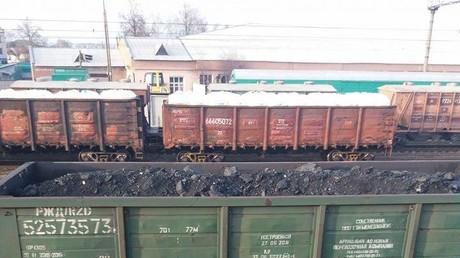 Ukrainische Nationalisten blockieren Zugverkehr aus Russland