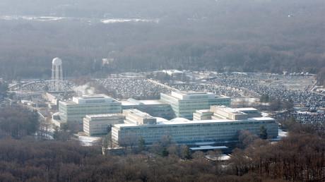 Die Zentrale der CIA in Langley, Virginia, aus der Vogelperspektive.