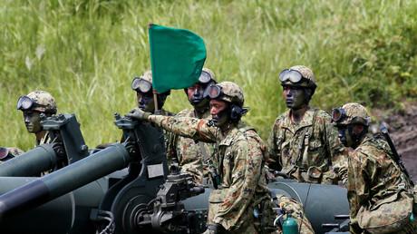 Symbolbild - Japanische Armee bei einem Artilleriemanöver, August 2016