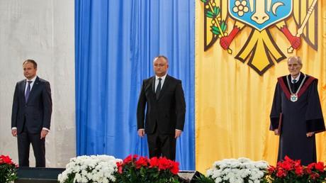 Widersprüche übertrieben? Der Parlamentspräsident Andrian Kandy und Präsident Igor Dodon während der Amtseinführung Igor Dodons zum Präsidenten am 13. Dezember 2016