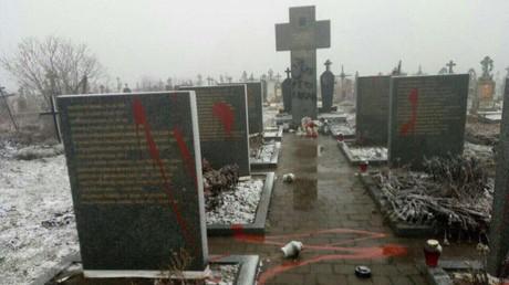 Ukrainische Vandalen schänden Denkmal für getötete Polen