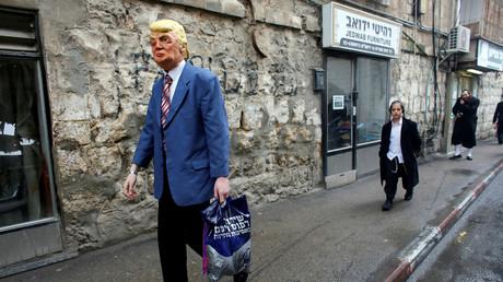 Verkleideter anlässlich des Purim-Festes, Jerusalem, Israel - 13. März 2017.