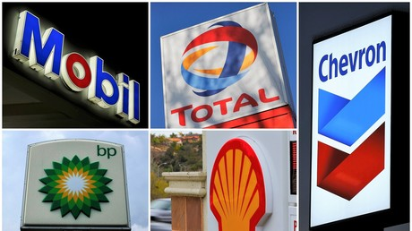 Logos führender amerikanischer und europäischer Öl-Unternehmen