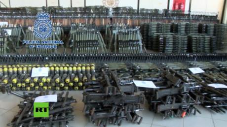 Im Januar konfiszierte Waffen.