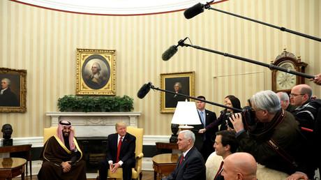 Präsident Trump und Mohammed bin Salman bei einem Treffen im Weißen Haus; Washington, USA, 14. März 2017.