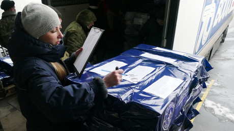 Russland liefert gut 500 Tonnen humanitäre Hilfe nach Donezk und Lugansk