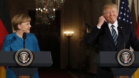 Verstanden sich offenbar besser als erwartet: Bundeskanzlerin Angela Merkel und der US-Präsident Donald Trump.