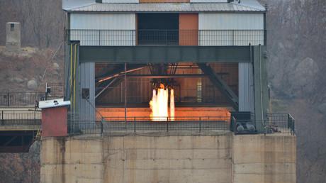 Nordkoreanischer Raketentriebwerkstest, Nordkorea, 19. März 2017