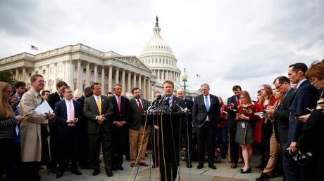 U.S. Senator Rand Paul bei einer Pressekonferenz in Washington D.C., März 2017