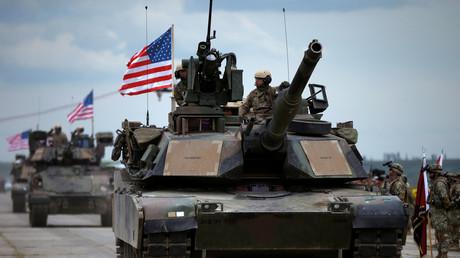 Soldaten der US-Army bei der Eröffnung des US-geführten Militärmanövers