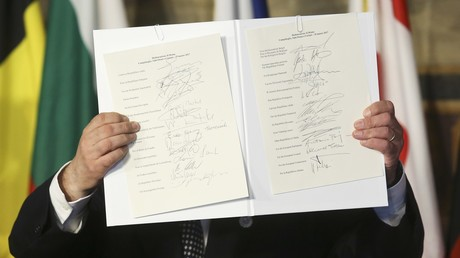 EU-Staatsoberhäupter unterzeichnen Erklärung von Rom