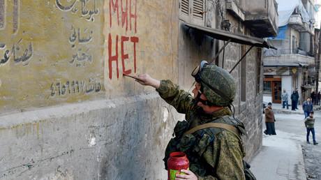 Russische Minenräumaktion in Aleppo.
