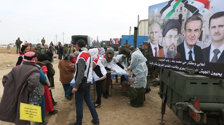 Russische Militärs liefern syrischen Einwohnern fast 27 Tonnen Hilfsgüter