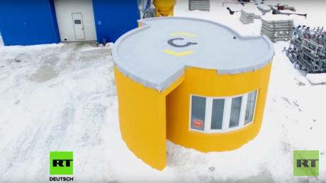 Ein Haus aus dem 3D-Drucker des Moskauer Start-Ups Apis Cor.