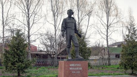 Denkmal für Nikolai Miklucho-Maklai in Malyn/Ukraine.   (c) Creative Commons Attribution-Share Alike 3.0 Unported