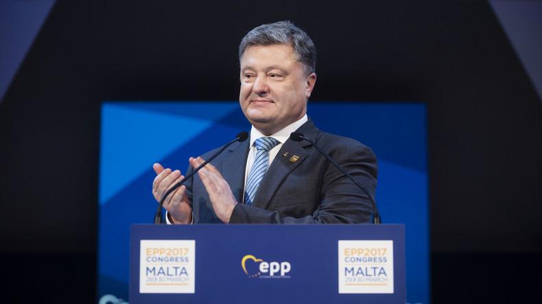 Ukrainischer Präsident Petro Poroschenko deklariert sein Einkommen: 455.000 US-Dollar im Jahr 2016