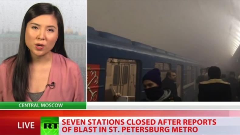 Live-Berichterstattung nach Explosion in St. Petersburg
