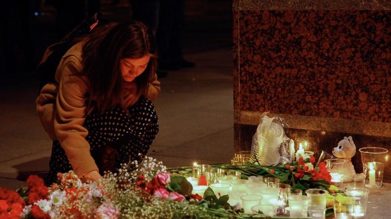 Sankt Petersburg ordnet drei Tage Trauer nach Bombenexplosion in U-Bahn an