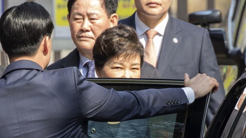 Südkoreanische Ex-Präsidentin Park Geun-hye im Gefängnis verhört