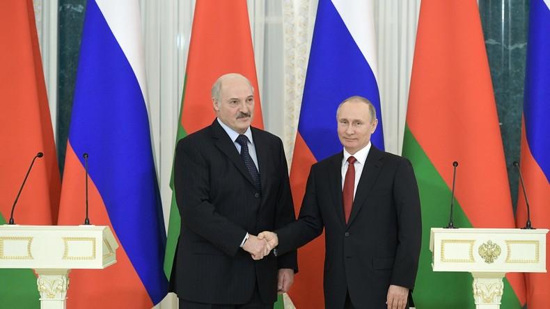 Union trotz Differenzen: Treffen von Putin und Lukaschenko in St. Petersburg