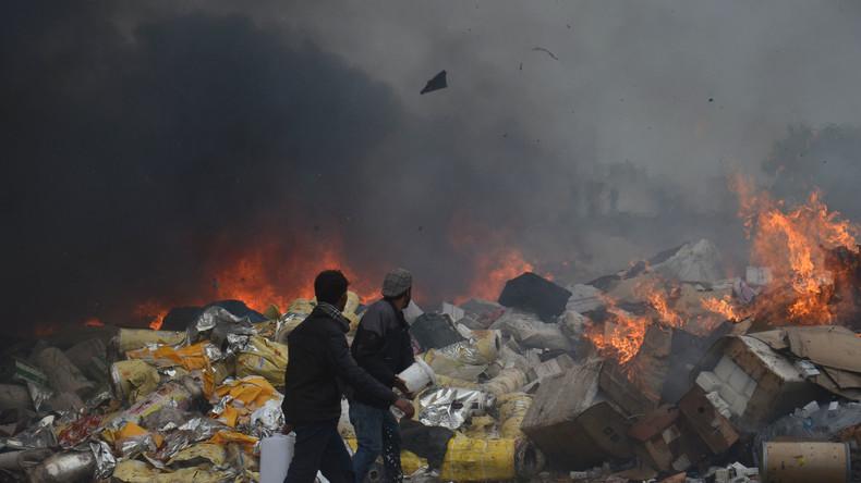 In Afghanistan im Laufe von zwölf Monaten 650 Tonnen Drogen beschlagnahmt