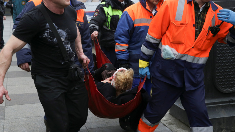 Bombenanschlag in St. Petersburg: Augenzeugen berichten