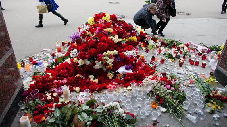 Generalkonsuln der europäischen Staaten gedenken der Opfer des Terroranschlags von Sankt Petersburg