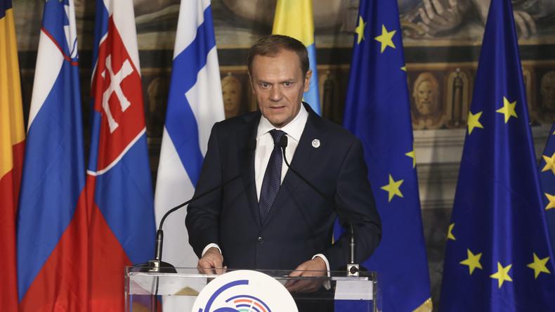 """Geschichtsklitterung durch EU-Ratspräsident Tusk: Zweiter Weltkrieg als """"russische Aggression"""""""