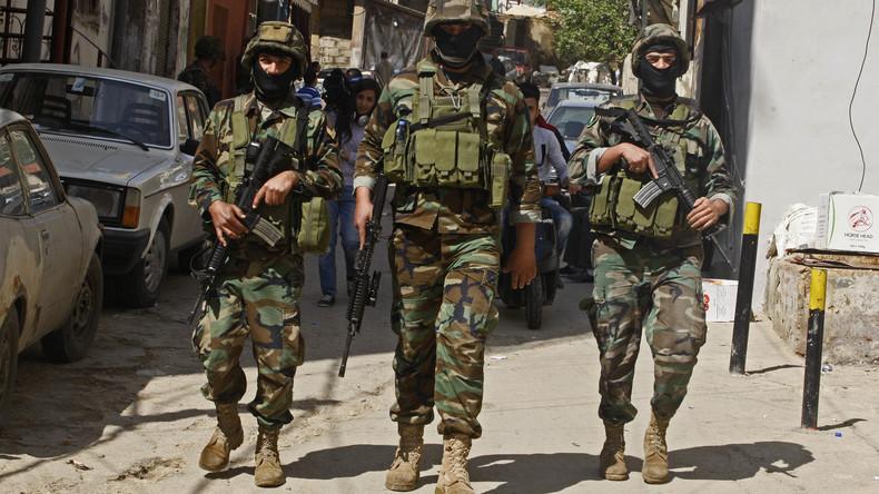 Libanesische Artillerie beschießt Terroristen an der Grenze zu Syrien