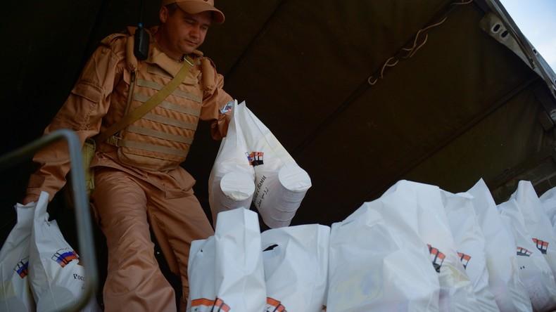 Russland und UNO liefern syrischen Einwohnern 22,2 Tonnen humanitäre Hilfe