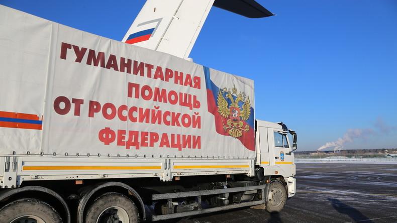 Russischer Wohltätigkeitsfonds liefert 300 Kilo Medikamente nach Latakia