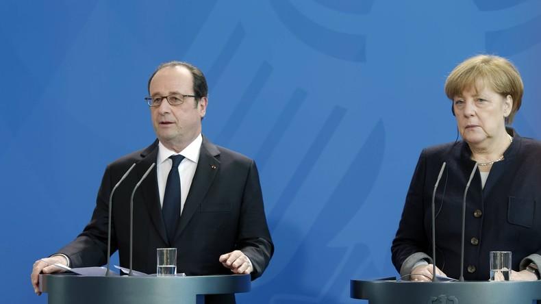 """Merkel und Hollande: """"Assad trägt alleinige Verantwortung"""""""