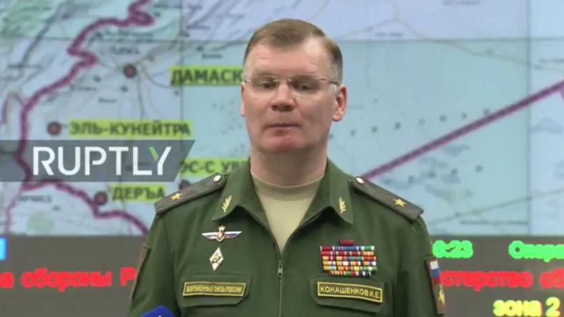 Russisches Verteidigungsministerium gibt Pressebriefing nach US-Angriff auf Syrien [Refeed]