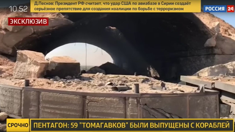 Erste Bilder von der zerstörten syrischen Luftwaffenbasis [Video und Fotos]