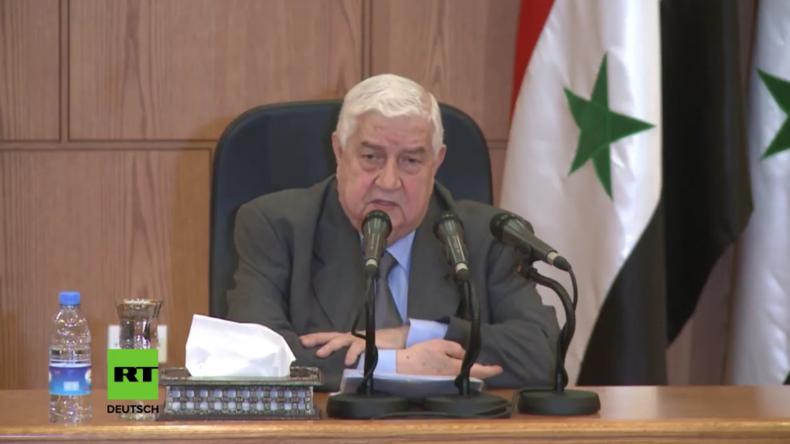 """""""Terroristen haben Chemiewaffen"""" - Syrischer Außenminister weist Giftgas-Vorwurf entschieden zurück"""