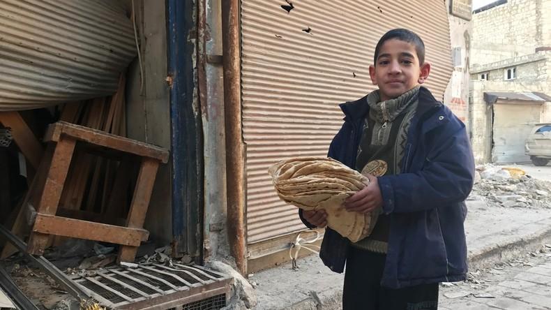 Russische Militärs verteilen unter Syrern rund 4,5 Tonnen Hilfsgüter
