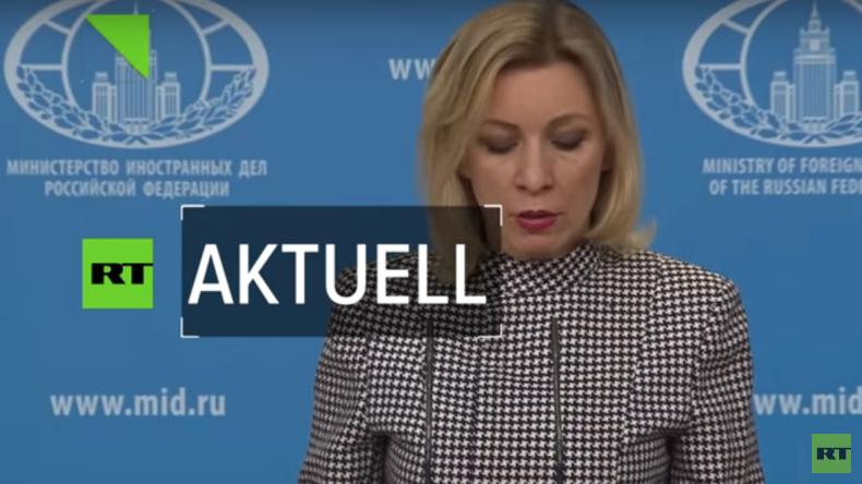 """Außenamtssprecherin Maria Sacharowa: """"USA gefährden die internationale Sicherheit"""""""