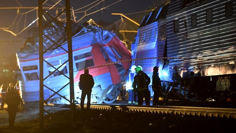 Mindestens 28 Verletzte bei Zugunglück in Moskau