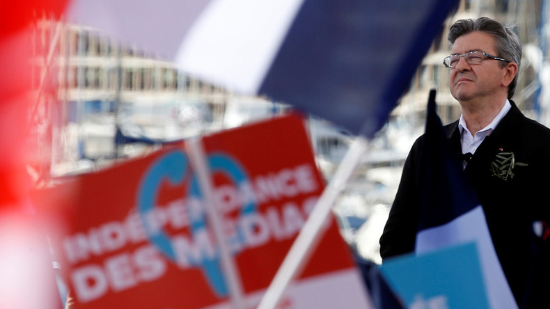 Jean-Luc Mélenchon bei einer Wahlkampfveranstaltung in der französischen Hafenstadt Marseille.