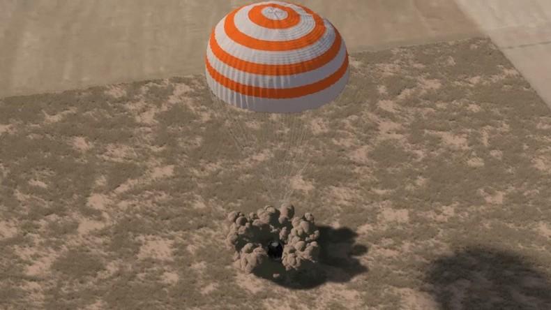 Drei Astronauten kehren nach 173 Tagen von ISS zurück