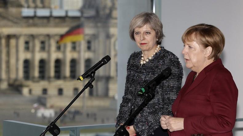 Telefonat mit Trump: May und Merkel unterstützen US-Angriff