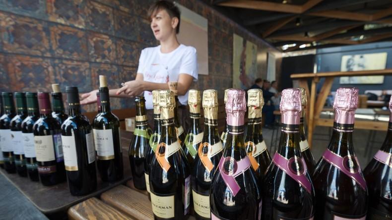 Bei Weinmesse in Italien Produktion aus der Krim beschlagnahmt