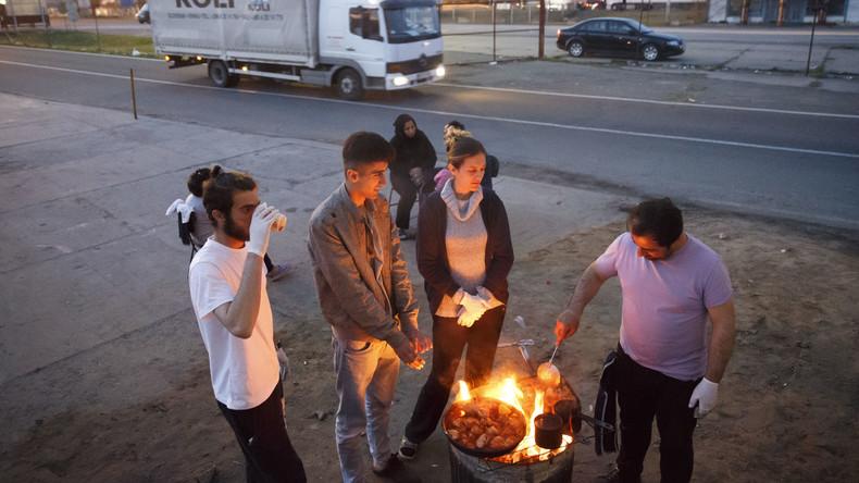 Über 200 Flüchtlinge wegen Überfälle auf Einheimische in Serbien festgenommen