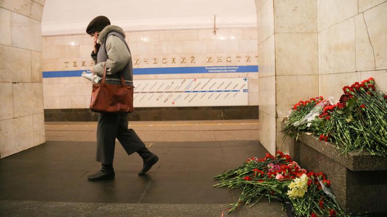 Opferzahl nach Anschlag auf Sankt Petersburger U-Bahn wächst auf 15